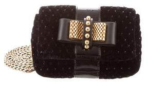 Christian Louboutin Mini Velvet Sweet Charity Bag