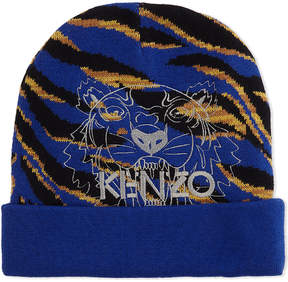 Kenzo Tiger striped cotton-wool blend beanie 5-16 years
