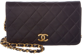 Chanel Black Quilted Lambskin Leather Mini Single Flap Bag