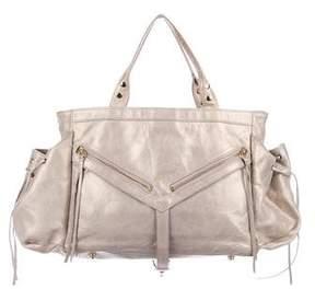 Botkier Metallic Leather Handle Bag