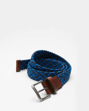 Express Blue Web Stretch Belt