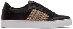 Paul Smith Black Multistripe Ivo Sneakers