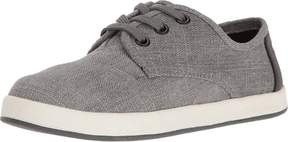 Toms 10009784 - 3 Paseo Sneaker - Boys' Forged Iron Grey Colored Denim, 3.0