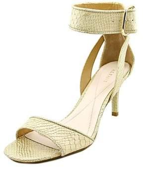 Alfani Casedy Women Open Toe Synthetic Gold Sandals.