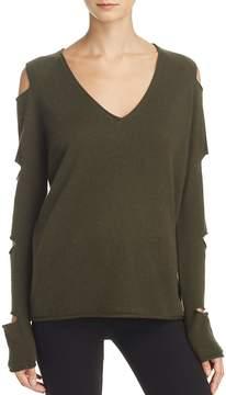 Aqua Cashmere V-Neck Slash-Arm Sweater - 100% Exclusive