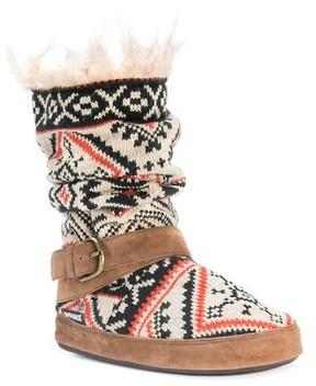Muk Luks Women's Lisen Fair Isle Slipper Boots