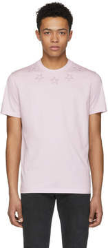 Givenchy Pink Stars Collar T-Shirt