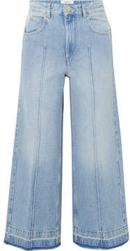 Etoile Isabel Marant Cabrio Cropped High-rise Wide-leg Jeans - Mid denim