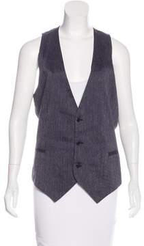 CNC Costume National Patterned Button-Up Vest