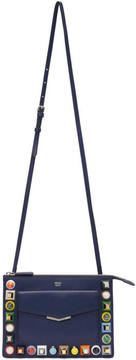 Fendi Blue Mini Rainbow Shoulder Bag