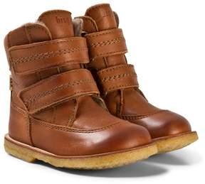 Bisgaard Cognac Velcro Boots