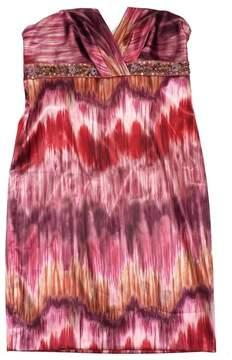 David Meister MultiColor Print Embellished Strapless Dress