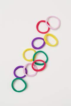 H&M 10-pack Hair Elastics - Green