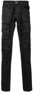 Philipp Plein plated biker jeans