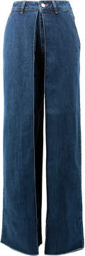 Aalto wide leg jeans with folded detail