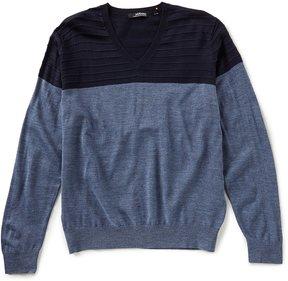 Murano Modern Performance Textured V-Neck Sweater