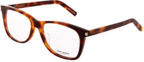 Saint Laurent Square Acetate Havana Optical Glasses