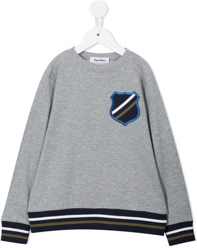 Familiar patch appliqué sweatshirt