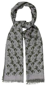 Hermes Courbettes Cashmere & Silk-Blend Muffler w/ Tags