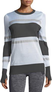 Blanc Noir Vision Mesh-Inset Sweater