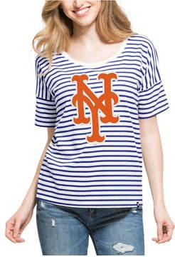 '47 Women's New York Mets Coed Stripe T-Shirt