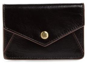 Hobo Women's Bolt Leather Card Wallet - Black