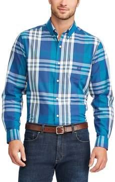 Chaps Big & Tall Regular-Fit Plaid Stretch Button-Down Shirt