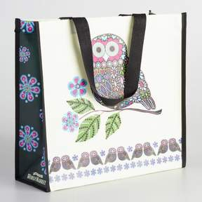 World Market Folk Owl Tote Bag