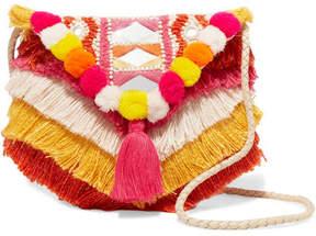 Antik Batik - Frika Embellished Cotton Shoulder Bag - Pink