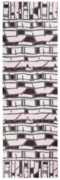St. John Broken Stripe Print Silk Georgette Scarf