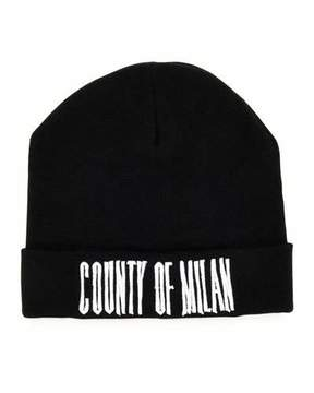 Marcelo Burlon County of Milan Sajama County of Milan Wool Beanie, Black/White