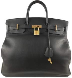 Hermes Birkin leather tote - BLACK - STYLE