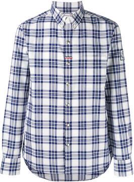 Moncler Gamme Bleu plaid shirt