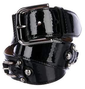 Dolce & Gabbana Leather Embellished Belt