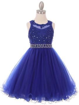 No Name Rhinestone Pearl Dress