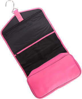 Royce Leather Dark Pink Leather Hanging Toiletry Bag