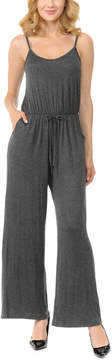 Celeste Charcoal Sleeveless Wide-Leg Jumpsuit - Women & Plus
