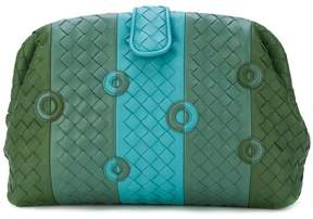 Bottega Veneta woven panelled clutch