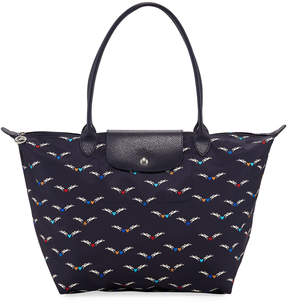 Longchamp Le Pliage Chevaux Ailes Shoulder Tote Bag