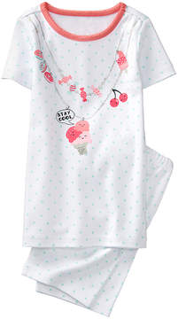 Gymboree White & Mint Dot 'Stay Cool' Candy Necklace Pajama Set - Infant, Toddler & Girls