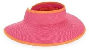 San Diego Hat Company Contrast Roll-Up Visor