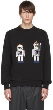 Dolce & Gabbana Black Robot Designers Sweatshirt
