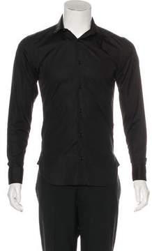Christian Dior Strap Collar Button-Up Shirt