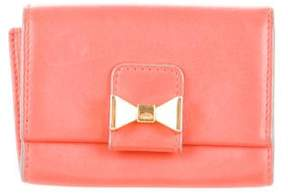 Chloé Leather Bow Wallet