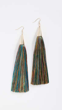 Eddie Borgo 15cm Silk Tassel Earrings