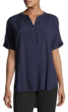 Allen Allen Tab-Collar Short-Sleeve Henley Shirt