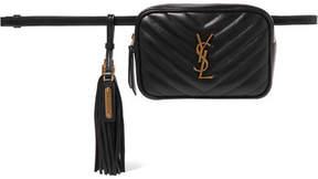 Saint Laurent Lou Quilted Leather Belt Bag - Black
