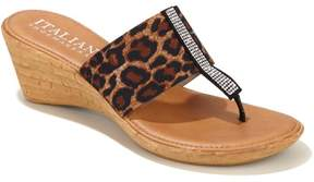 Italian Shoemakers Mina Ornament Wedge Sandal