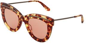 Bottega Veneta Tortoise Plastic Cat-Eye Sunglasses