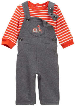 Little Me Safari Buddies Overalls Set (Baby Boys)